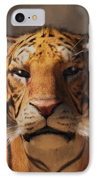 Portrait Of A Tiger IPhone Case by Daniel Eskridge