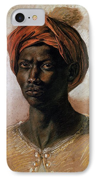 Portrait Of A Turk In A Turban IPhone Case by Ferdinand Victor Eugene Delacroix
