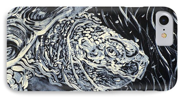 IPhone Case featuring the painting Portrait Of A Turtle by Fabrizio Cassetta