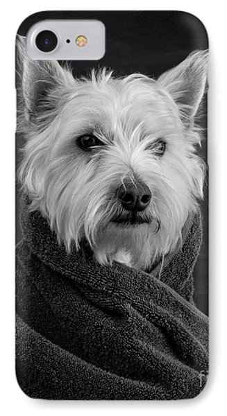 IPhone Case featuring the photograph Portrait Of A Westie Dog 8x10 Ratio by Edward Fielding