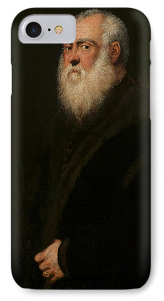 Portrait Of A White-bearded Man  IPhone Case by Tintoretto