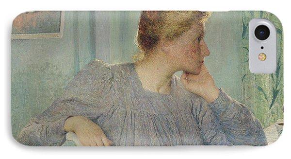 Portrait Of A Woman, 1900 IPhone Case by Emile Claus