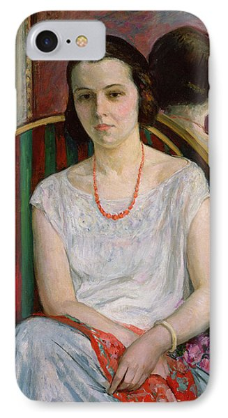 Portrait Of A Woman IPhone Case by Henri Lebasque