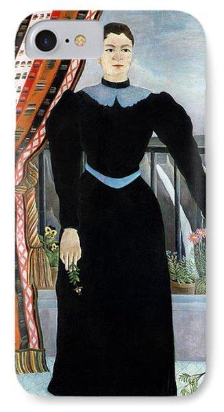 Portrait Of A Woman IPhone Case by Henri Rousseau