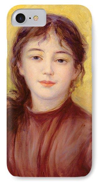 Portrait Of A Woman Phone Case by Pierre Auguste Renoir