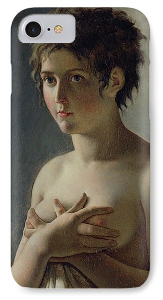 Portrait Of A Young Girl IPhone Case by Baron Pierre Narcisse Guerin
