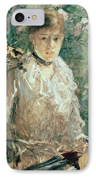 Portrait Of A Young Lady Phone Case by Berthe Morisot
