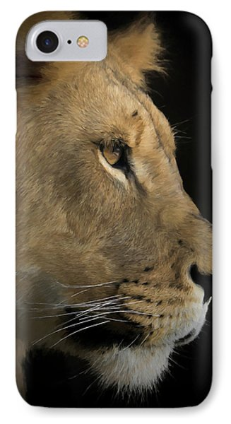 IPhone Case featuring the digital art Portrait Of A Young Lion by Ernie Echols