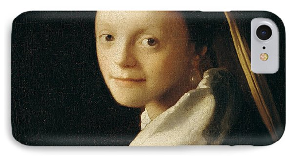 Portrait Of A Young Woman Phone Case by Jan Vermeer