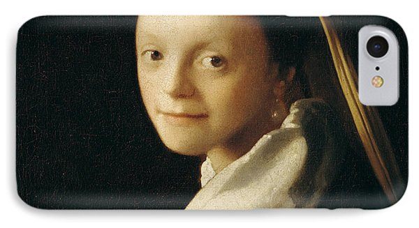 Portrait Of A Young Woman IPhone Case by Jan Vermeer