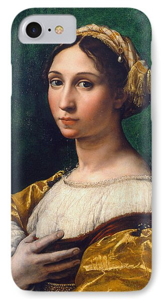 Portrait Of A Young Woman IPhone Case by Raphael