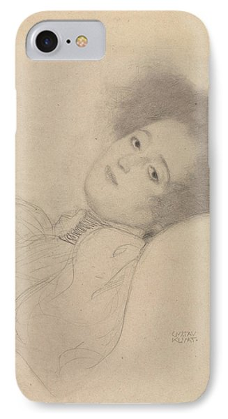 Portrait Of A Young Woman Reclining IPhone Case