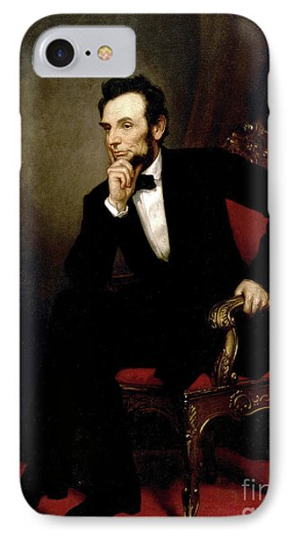 Portrait Of Abraham Lincoln, 1869  IPhone Case by George Peter Alexander Healy