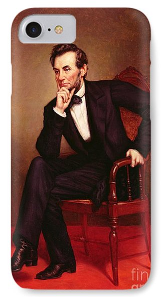 Portrait Of Abraham Lincoln IPhone 7 Case by George Peter Alexander Healy