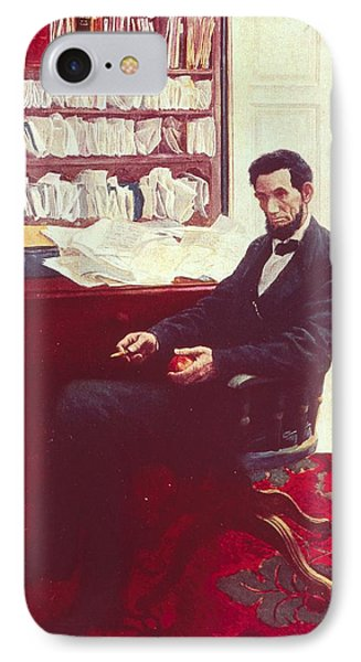 Portrait Of Abraham Lincoln Phone Case by Howard Pyle
