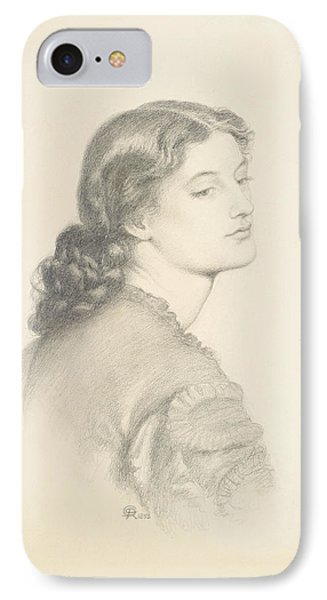 Portrait Of Ada Vernon IPhone Case by Dante Gabriel Rossetti