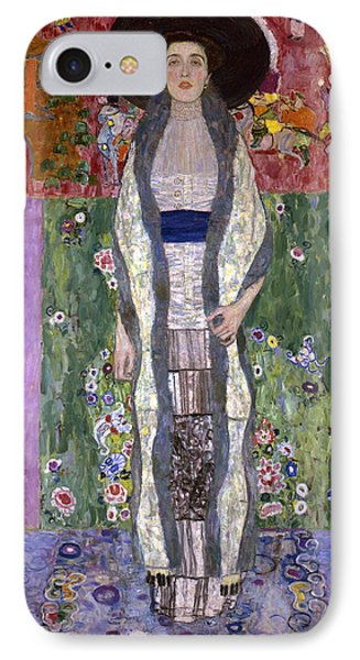 Portrait Of Adele Bloch-bauer II IPhone 7 Case by Gustav Klimt