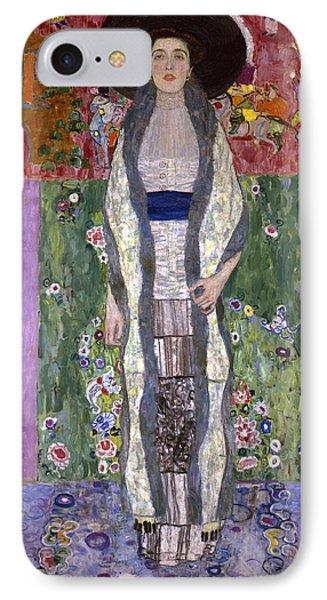 Portrait Of Adele Bloch-bauer II IPhone Case by Gustav Klimt
