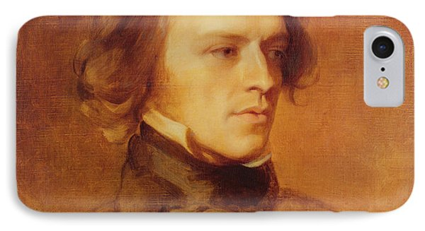 Portrait Of Alfred Lord Tennyson Phone Case by Samuel Laurence