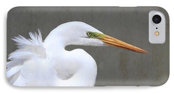Portrait Of An Egret Signed IPhone Case