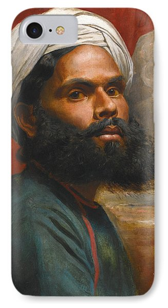 IPhone Case featuring the painting Portrait Of An Indian Sardar by Edwin Frederick Holt