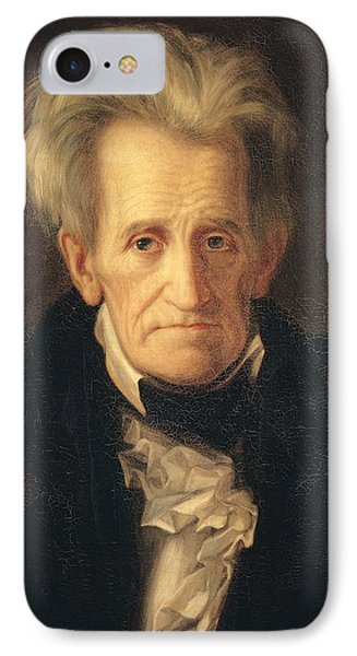 Portrait Of Andrew Jackson Phone Case by George Peter Alexander Healy