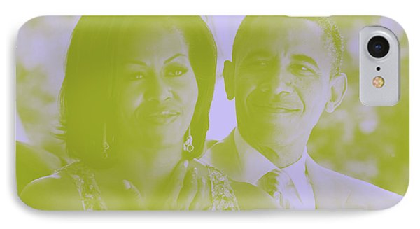 Portrait Of Barack And Michelle Obama IPhone Case by Asar Studios