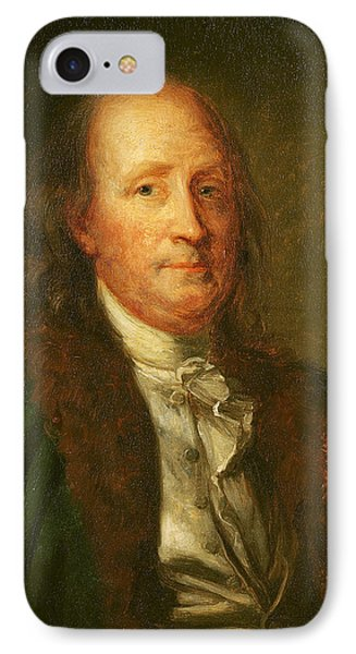 Portrait Of Benjamin Franklin IPhone Case by George Peter Alexander Healy