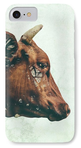 Cow iPhone 7 Case - Portrait Of Bess by Katherine Smit