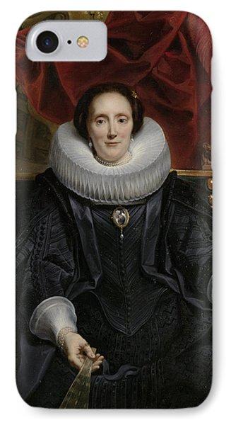 Portrait Of Catharina Behaghel IPhone Case by Jacob Jordaens