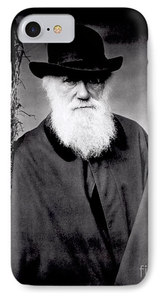 Portrait Of Charles Darwin IPhone Case by Julia Margaret Cameron