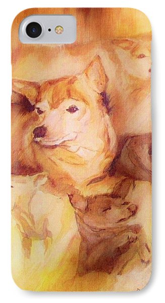 Portrait Of Chi Chi IPhone Case by Denise Fulmer
