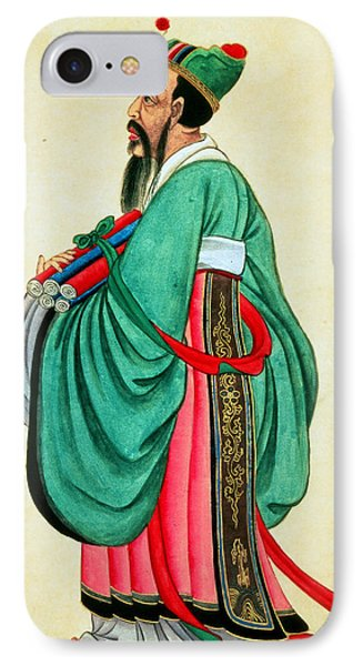 Portrait Of Confucius  IPhone Case by Chinese School