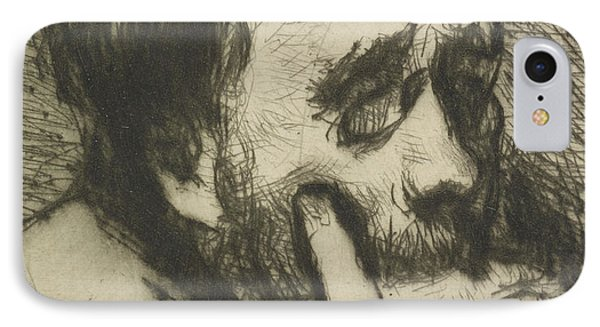 Portrait Of Edgar Degas IPhone Case by Marcellin Gilbert Desboutin