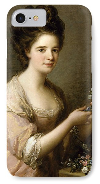 Portrait Of Eleanor, Countess Of Lauderdale IPhone Case by Angelica Kauffman