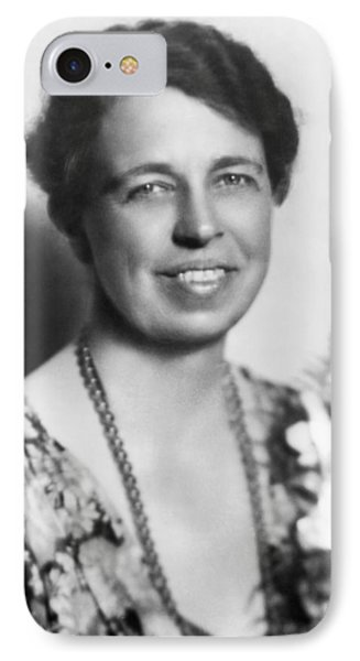 Portrait Of Eleanor Roosevelt IPhone Case by Underwood Archives