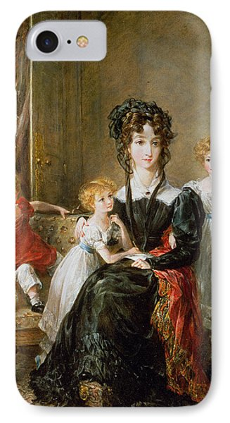 Portrait Of Elizabeth Lea And Her Children Phone Case by John Constable