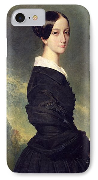 Portrait Of Francisca Caroline De Braganca IPhone Case by Franz Xaver Winterhalter
