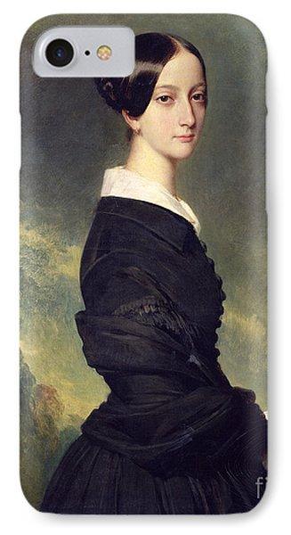 Portrait Of Francisca Caroline De Braganca Phone Case by Franz Xaver Winterhalter