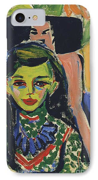 Portrait Of Franzi In Front Of Carved Chair IPhone Case