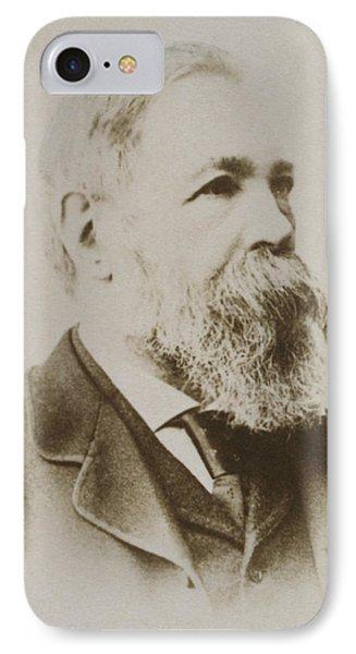 Portrait Of Friedrich Engels IPhone Case by Karl Pinkau
