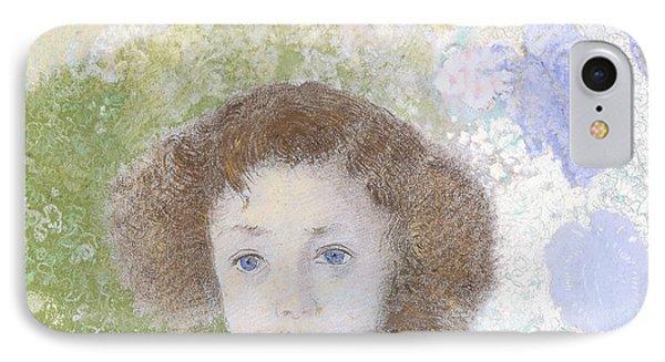 Portrait Of Genevieve De Gonet As A Child IPhone Case