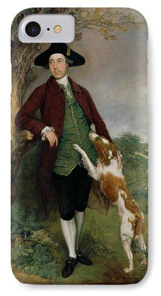 Portrait Of George Venables Vernon Phone Case by Thomas Gainsborough