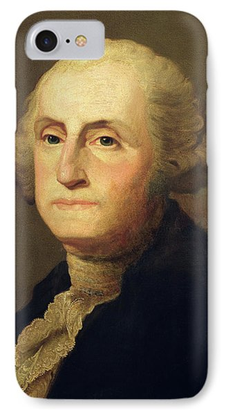 Portrait Of George Washington IPhone Case by Gilbert Stuart