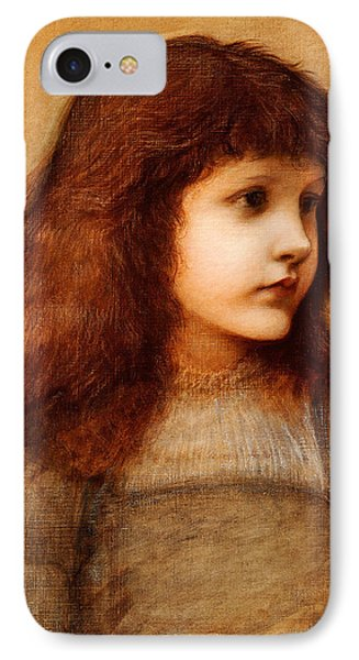 Portrait Of Gertie Lewis IPhone Case by Edward Burne-Jones