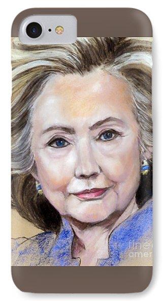 Pastel Portrait Of Hillary Clinton Phone Case by Greta Corens