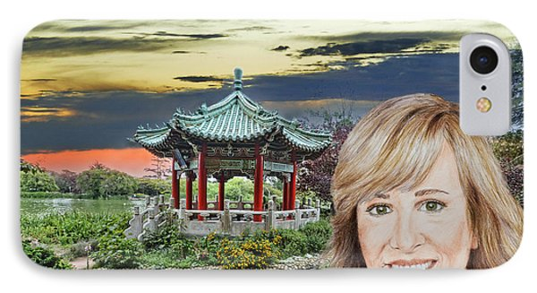 Portrait Of Jamie Colby By The Pagoda In Golden Gate Park IPhone Case