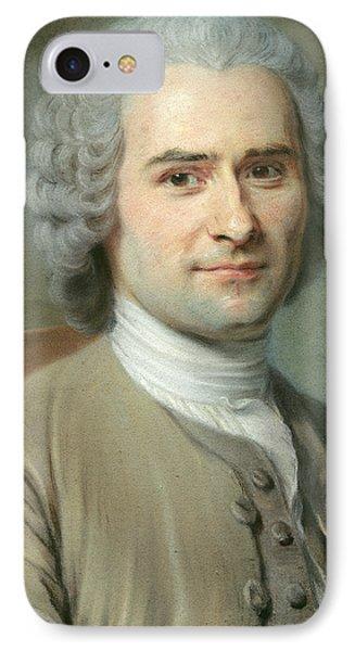 Portrait Of Jean Jacques Rousseau IPhone Case by Maurice Quentin de la Tour
