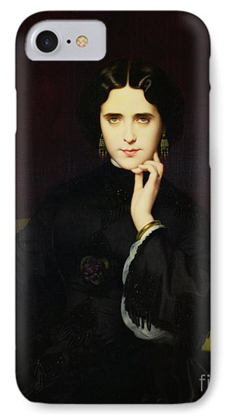 Portrait Of Jeanne De Tourbay Phone Case by Eugene Emmanuel Amaury-Duval