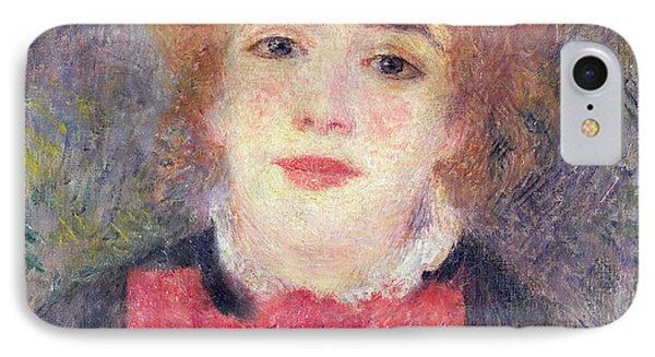 Portrait Of Jeanne Samary Phone Case by Renoir